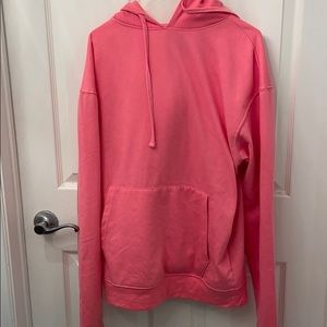 Bubblegum pink hoodie